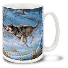 Running Free Wolf - 15oz. Mug