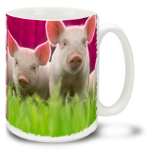 These cute little piggies must be on their way to market! Wake up to fun with this Little Piggies cute pig mug. Little Piggies cute pig coffee mug is durable, dishwasher and microwave safe.