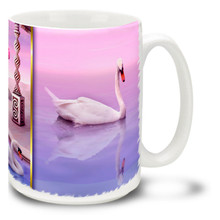 Colorful Swans Romantic - 15oz Mug