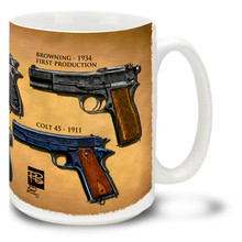 Burrows Handgun Collage - 15oz. Gun Mug