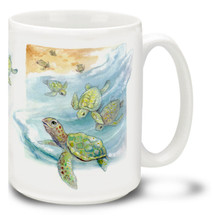 Baby Sea Turtles - 15oz Mug