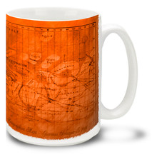 Ancient Mars Map - 15oz. Mug