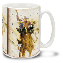 Roping Cowboy on Horse - 15oz Mug