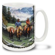 Clear Water Crossing Cowboys - 15oz Mug