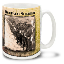 Buffalo Soldiers US 10th Cavalry Formation - 15oz Mug
