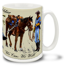 Buffalo Soldiers We Can We Will - 15oz Mug