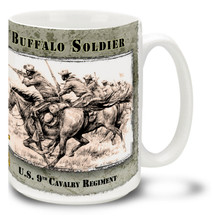 Buffalo Soldiers U.S. 9th Cavalry Charge - 15oz Mug