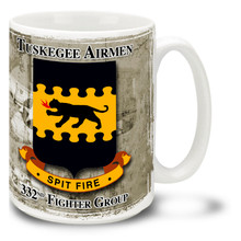Tuskegee Airmen 332nd FG Spitfire Patch - 15oz Mug