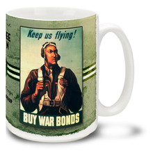 Tuskegee Airmen Buy War Bonds - 15oz Mug