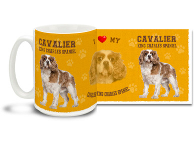 Love your Cavalier King Charles Spaniel? You'll love this Cavalier King Charles Spaniel Coffee mug! Spaniel mug is dishwasher and microwave safe.