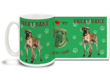 Love your Great Dane? You'll love this Great Dane Coffee mug! Great Dane mug is dishwasher and microwave safe.