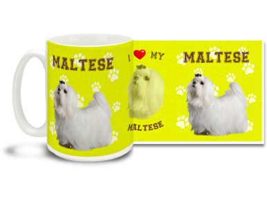 Love your Maltese? You'll love this Maltese Coffee mug! Maltese mug is dishwasher and microwave safe.