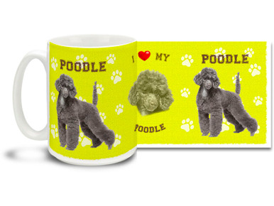 Love your Poodle? You'll love this Poodle Coffee mug! Poodle mug is dishwasher and microwave safe.