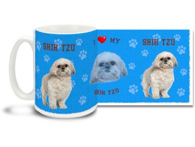 Love your Shih Tzu? You'll love this Shih Tzu Coffee mug! Shih Tzu mug is dishwasher and microwave safe.