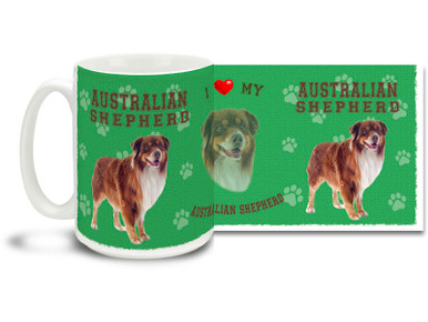 Love your Australian Shepherd? You'll love this Australian Shepherd Coffee mug! Australian Shepherd mug is dishwasher and microwave safe.
