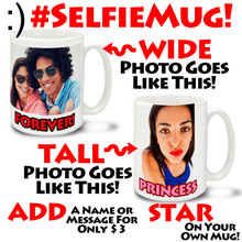 Selfie Mug Personalized Photo Mug - 15oz Mug