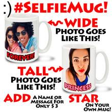 Selfie Mug Personalized Photo Mug - 15oz Mug