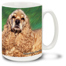 Artsy Cocker Spaniel - 15oz Dog Mug