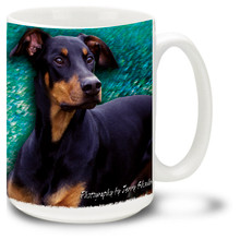 Artsy Doberman - 15oz Dog Mug