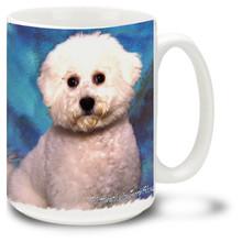 Artsy Bichon Frise - 15oz Dog Mug