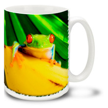 Red-Eyed Tree Frog on Banana - 15oz. Mug