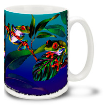 Red-Eyed Tree Frogs Watercolor - 15oz. Mug