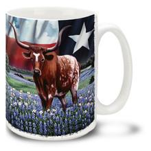 Texas Born Texas Bred Longhorn - 15oz Mug