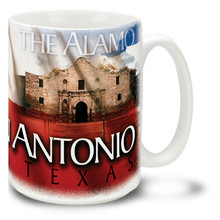 San Antonio Texas with Alamo - 15oz Mug