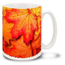 Colors of Fall Maple Leaves - 15oz Mug