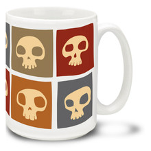 Decorative Sixties Style Skulls - 15oz Mug
