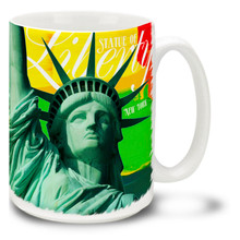 Statue of Liberty Bright Paints - 15oz Mug