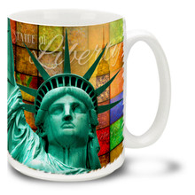 Statue of Liberty Colorful Mosaic - 15oz Mug