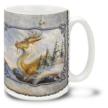 Winter's Reign Dragon - 15oz Mug