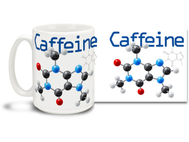 Get right to the heart of the matter with a caffeine molecule coffee mug! Caffeine molecule coffee mug is dishwasher and microwave safe and sure to be a favorite!