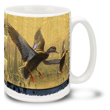Sunset Descent Flying Ducks - 15oz Mug