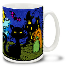 Halloween Sketchy Scene - 15oz Mug