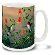 Hummingbird and Columbine - 15oz Mug