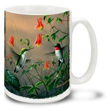 Hummingbird and Columbine - 15oz Mug