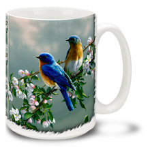 Spring Bluebirds - 15oz Mug