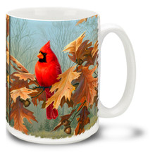 Cardinal in Autumn - 15oz Mug