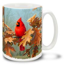 Cardinal in Autumn - 15oz Mug