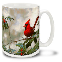 Cardinal and Holly - 15oz Mug