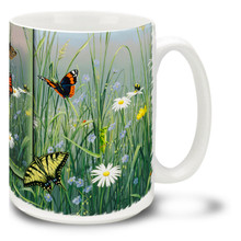 Butterflies in Spring Field - 15oz Mug