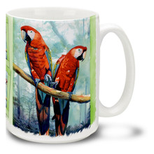 Friendly Red Macaws - 15oz Mug