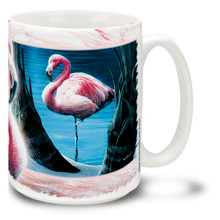 Cool Waters Pink Flamingos - 15oz Mug