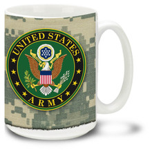 United States Army Crest on 15oz. Mug