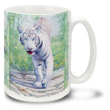 Solitary Sentinel White Tiger - 15oz Mug