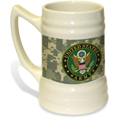 United States Army Crest on 22oz. Ceramic Stein
