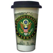 United States Army Crest on ACU - 11oz. Insulated Ceramic Travel Mug