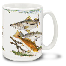 Saltwater Fishing Favorites West Coast Slam - 15oz Mug